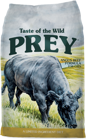 Prey Beef Formula for Cats product bag - click for more information