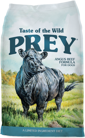 Prey Beef Formula for Dogs product bag - click for more information
