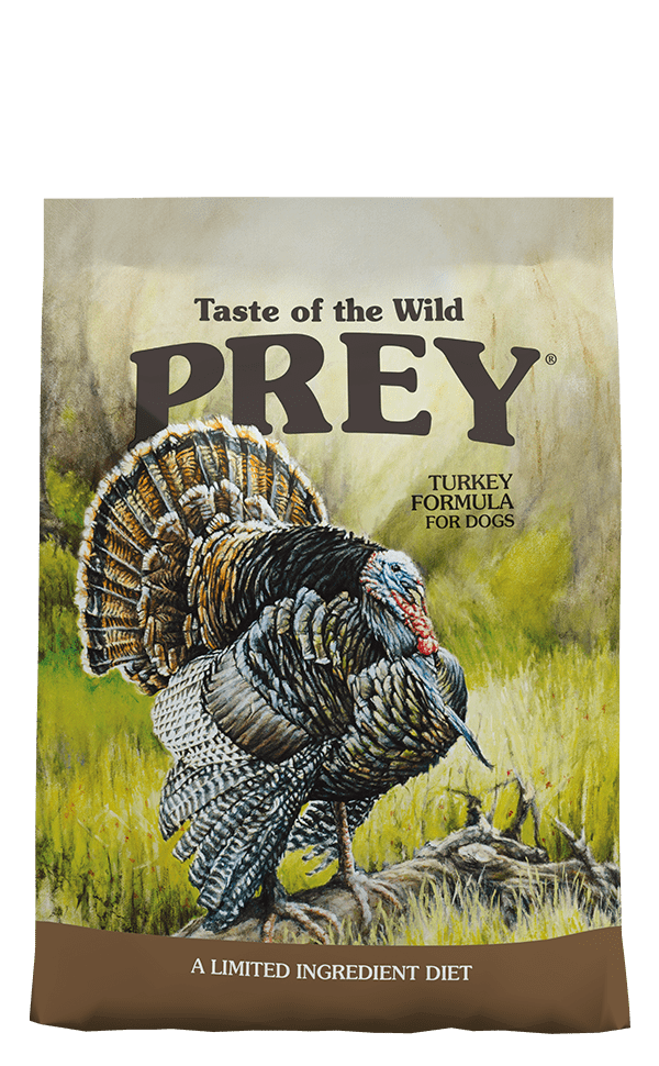 Prey Turkey Formula for Dogs product bag - click for more information