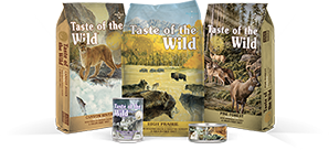 Taste of the Wild product bags
