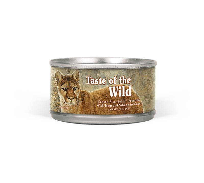 Canyon River Feline Formula with Trout and Salmon in Gravy package