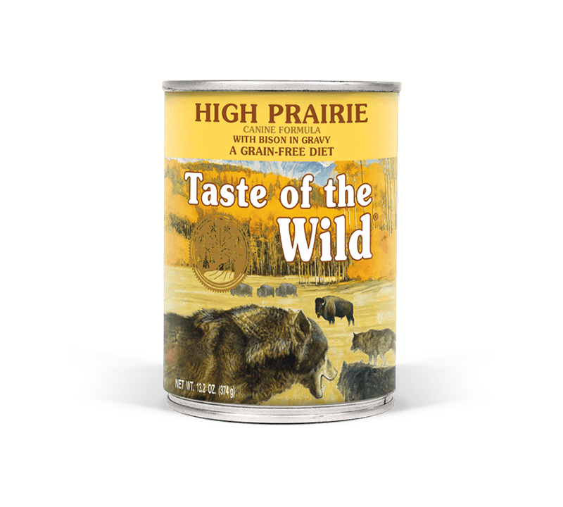 High Prairie Canine Formula with Bison in Gravy package