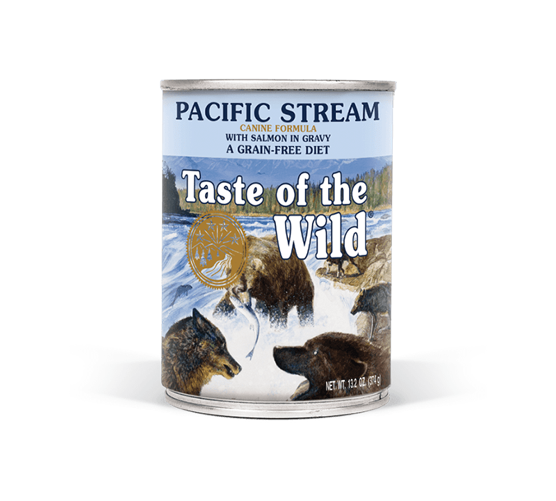 Pacific Stream Canine Formula with Salmon in Gravy package