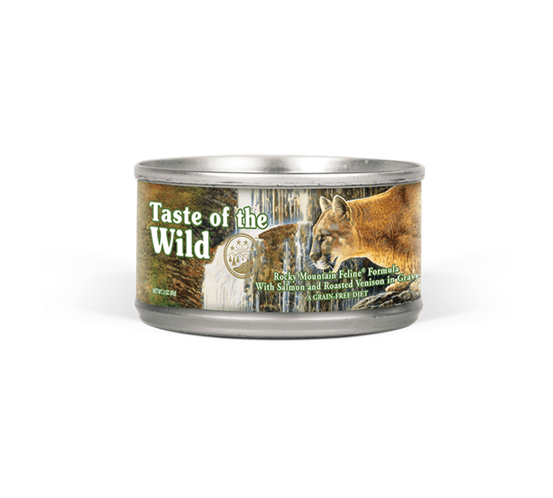 Rocky Mountain Feline Formula with Salmon and Roasted Venison in Gravy