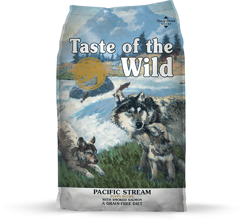Pacific Stream Puppy Recipe with Smoked Salmon package