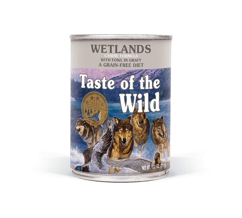 Wetlands Canine Formula with Fowl in Gravy package
