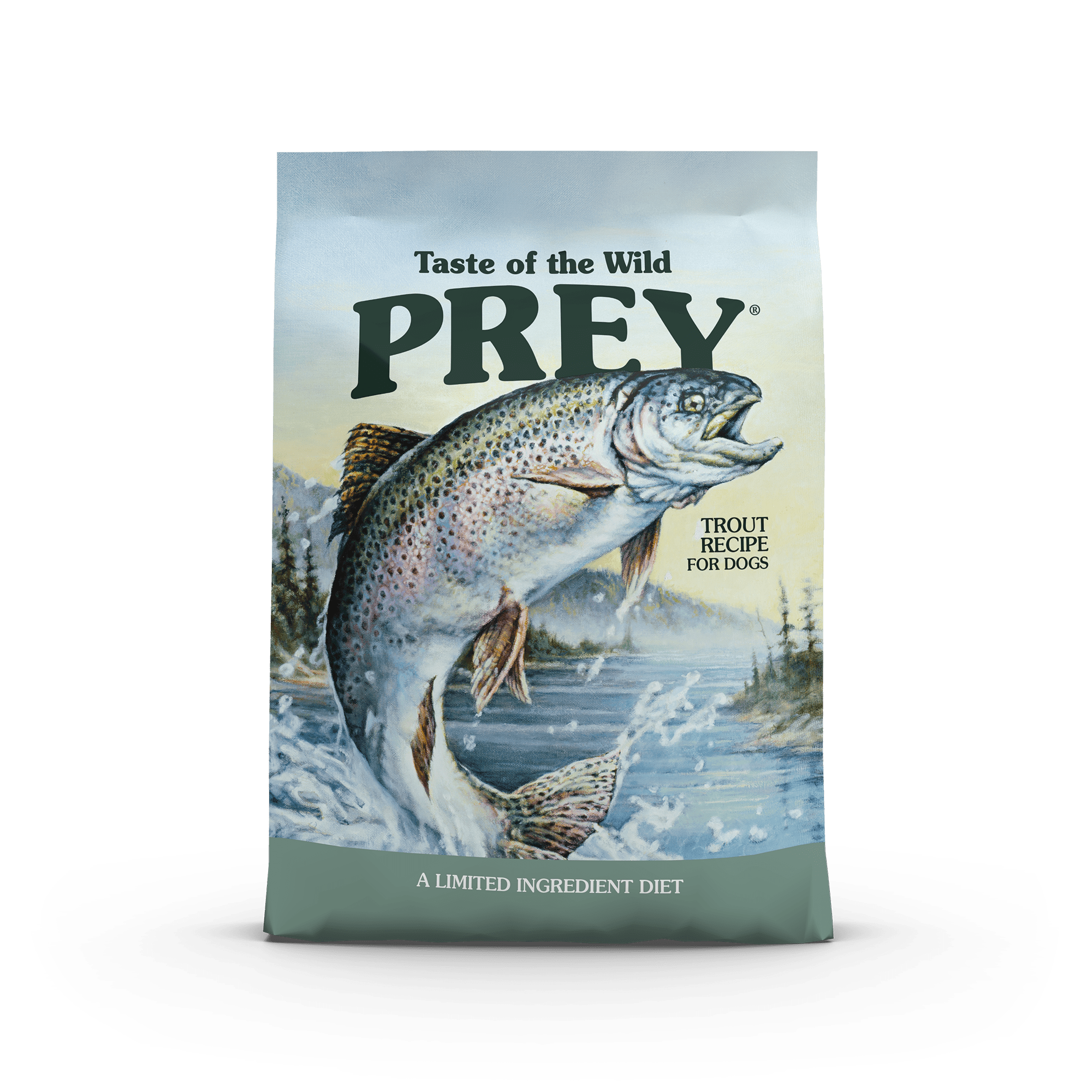 PREY Trout Limited Ingredient Formula for Dogs bag front
