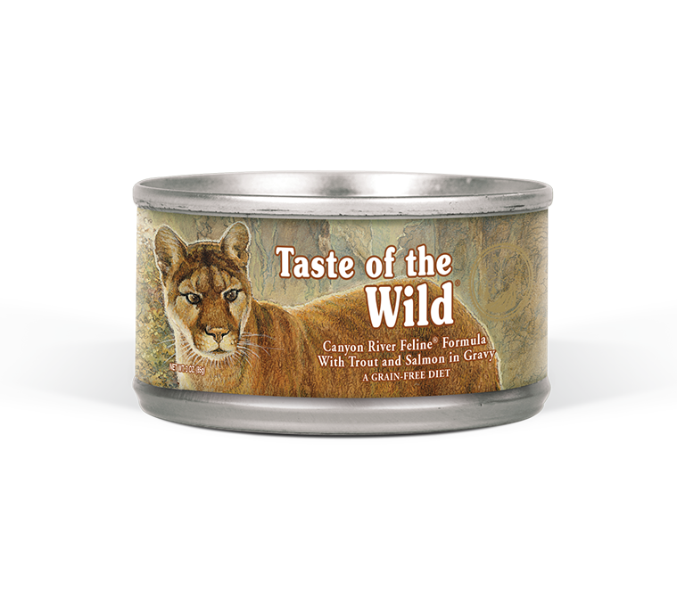 Canyon River Feline Formula with Trout and Salmon in Gravy package photo