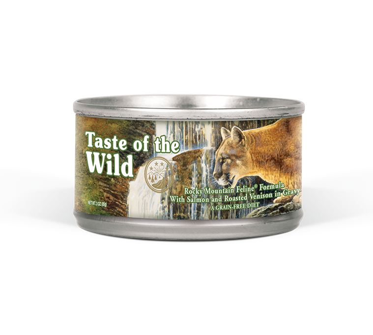 Rocky Mountain Feline Formula with Salmon and Roasted Venison in Gravy package photo