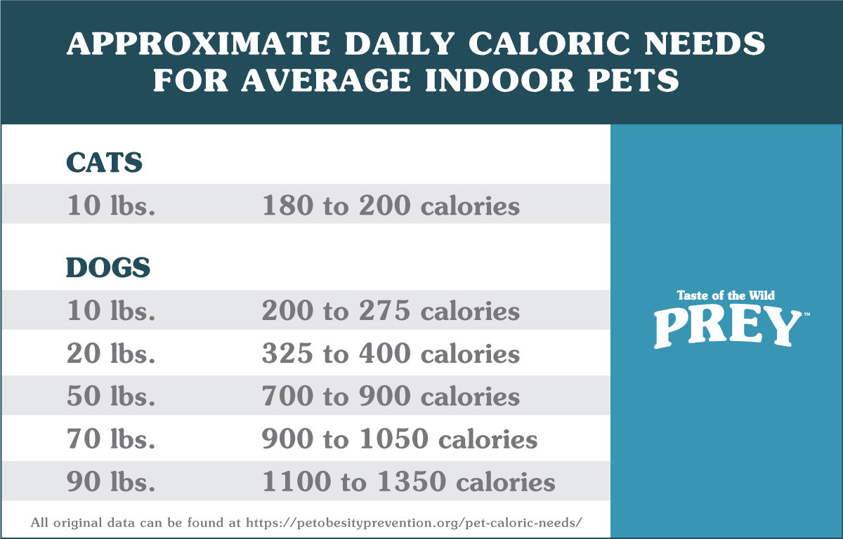 Dog & Cat Caloric Need Chart