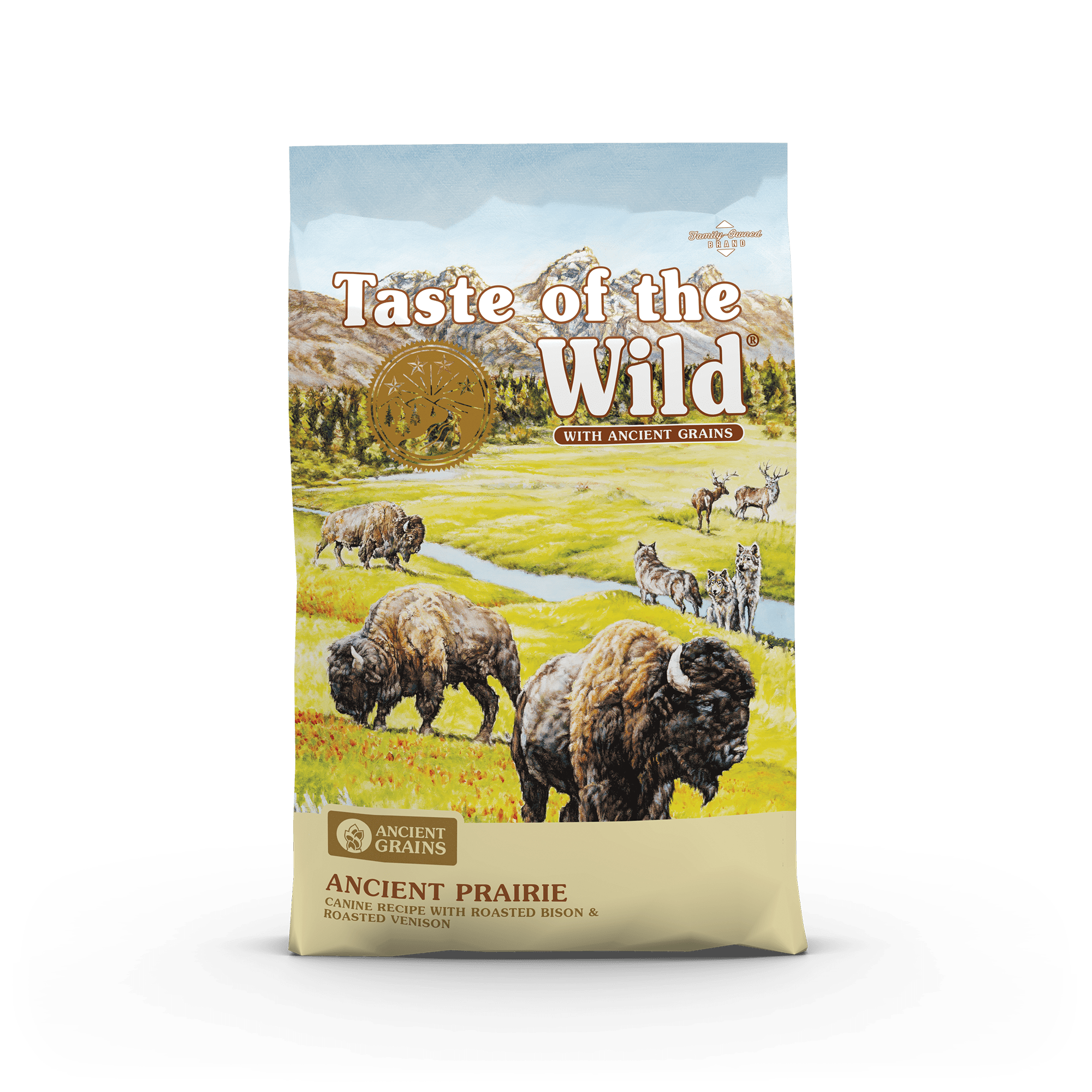 Ancient Prairie Canine Recipe with Roasted Bison & Roasted Venison bag front