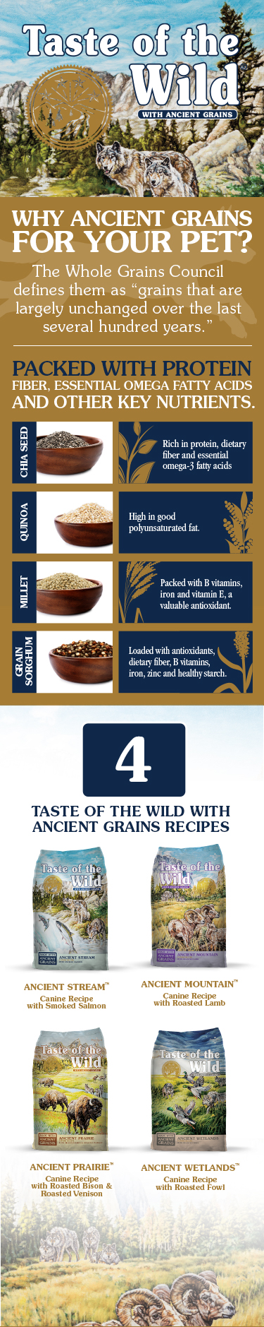 Ancient Grains Infographic | Taste of the Wild