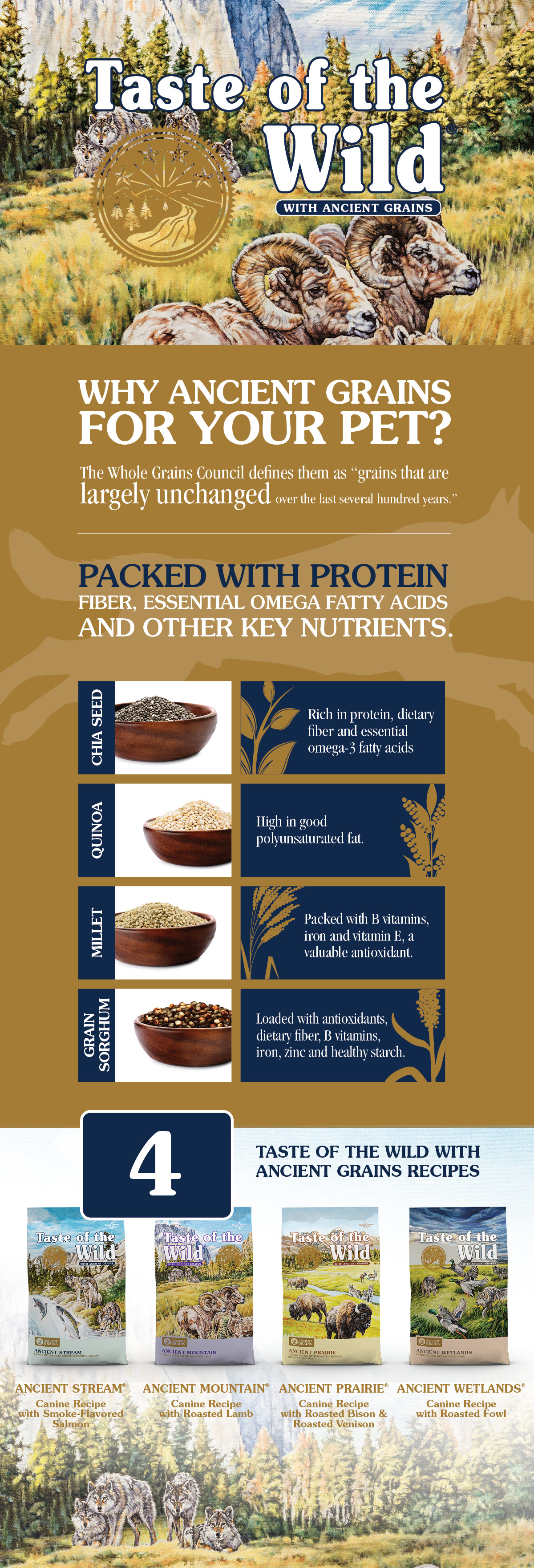 Why Ancient Grains for Your Pet Infographic
