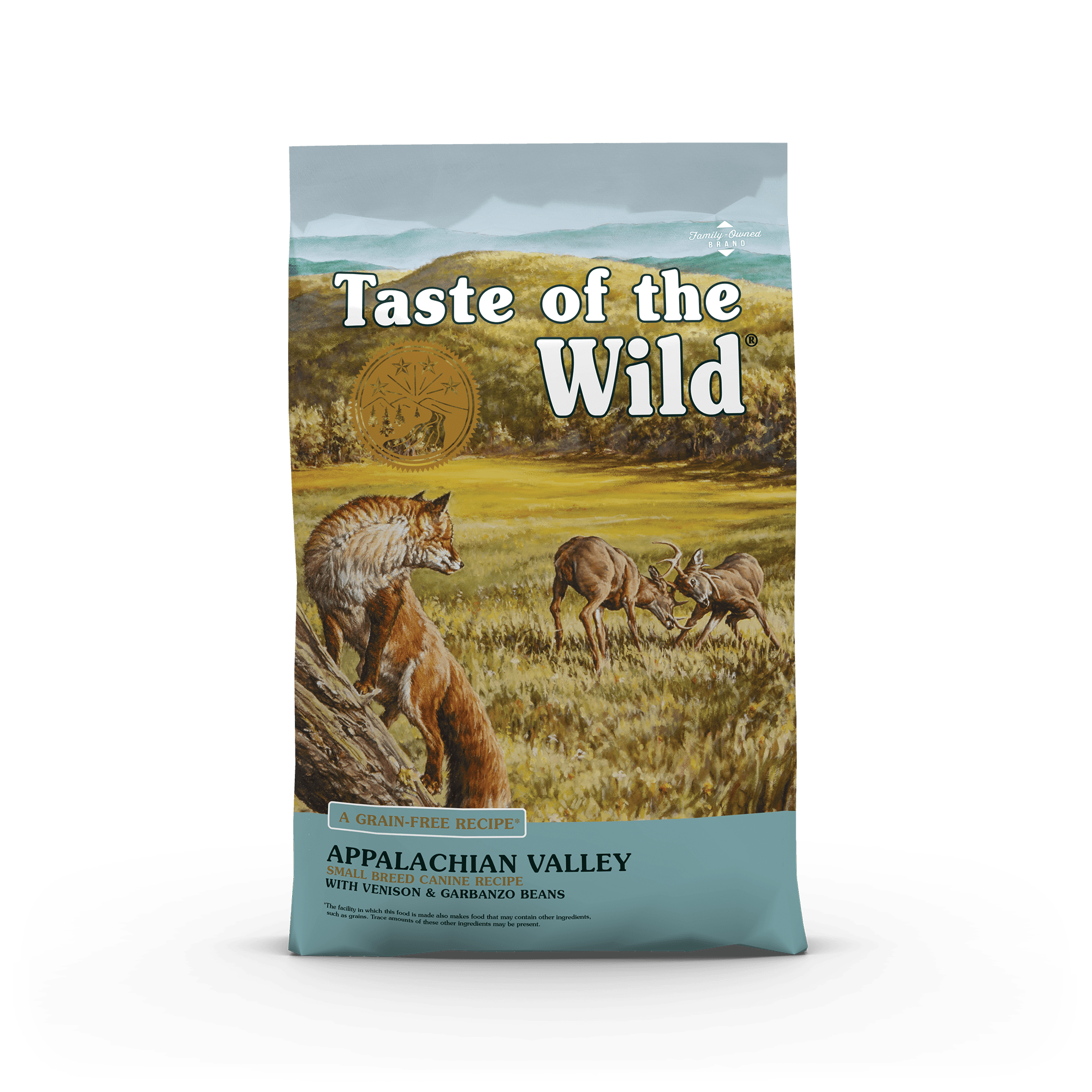Appalachian Valley Small Breed Canine Recipe with Venison & Garbanzo Beans bag front