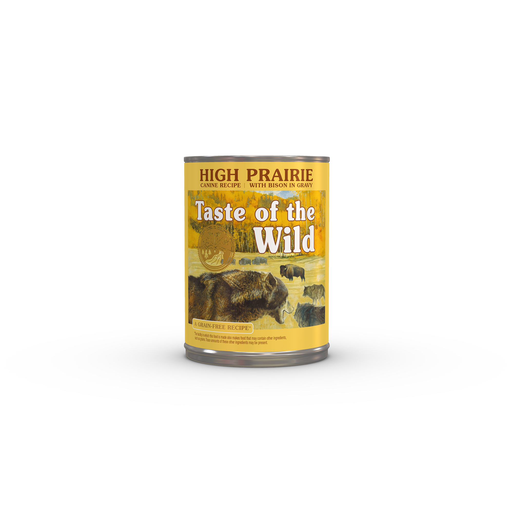 High Prairie Canine Formula with Bison in Gravy can front