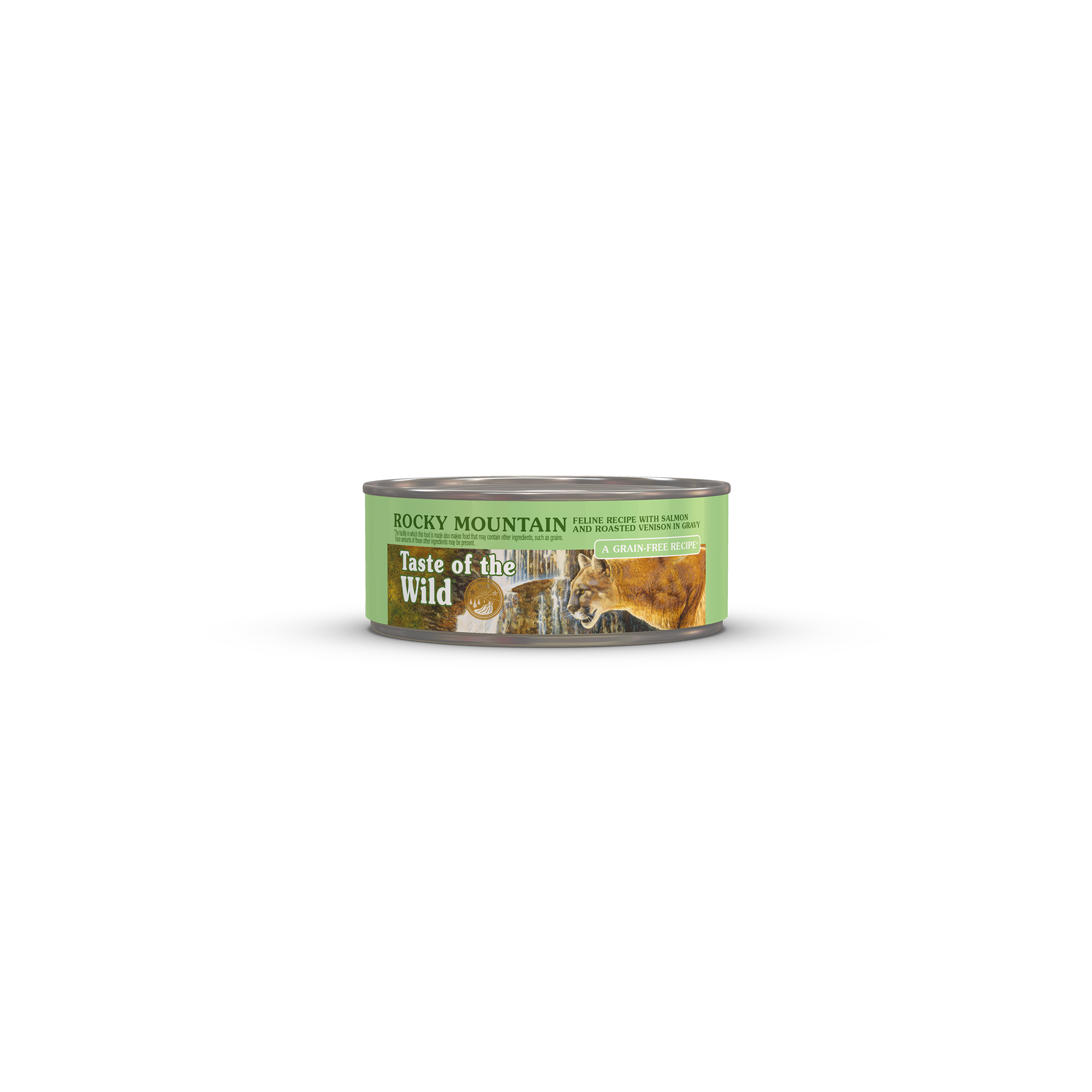 Rocky Mountain Feline Recipe with Salmon & Roasted Venison in Gravy can front